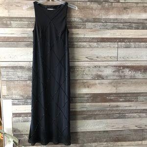 Jones New York beaded dress black petite 8P